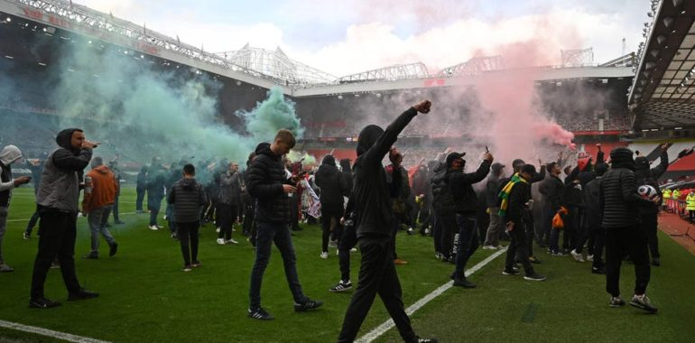 Protestation Super League Football Manchester